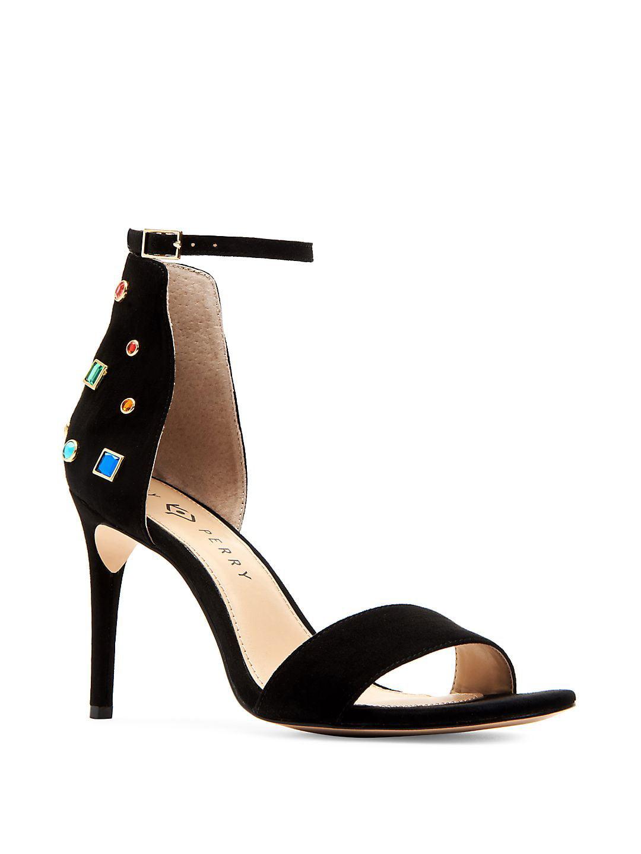 Josephina Embellished Suede Heels