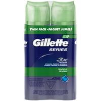 Gillette Series Sensitive Shave Gel, 7oz., Pack of 2