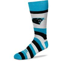 Carolina Panthers For Bare Feet Women's Pro Stripe Crew Socks