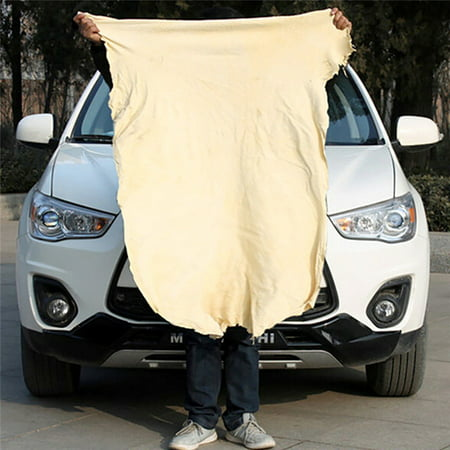 Natural Chamois Leather Car Cleaning Cloth Wash Suede Absorbent Quick Dry