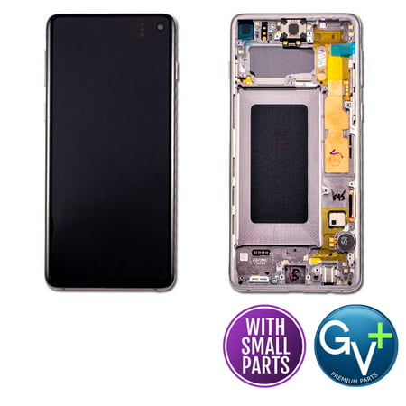 Touch Screen Digitizer and AMOLED Frame Assembly Display Assembly for Prism Black Samsung Galaxy S10 SM-G973, SM-G973U, SM-G973W, SM-G973F/DS (6.1