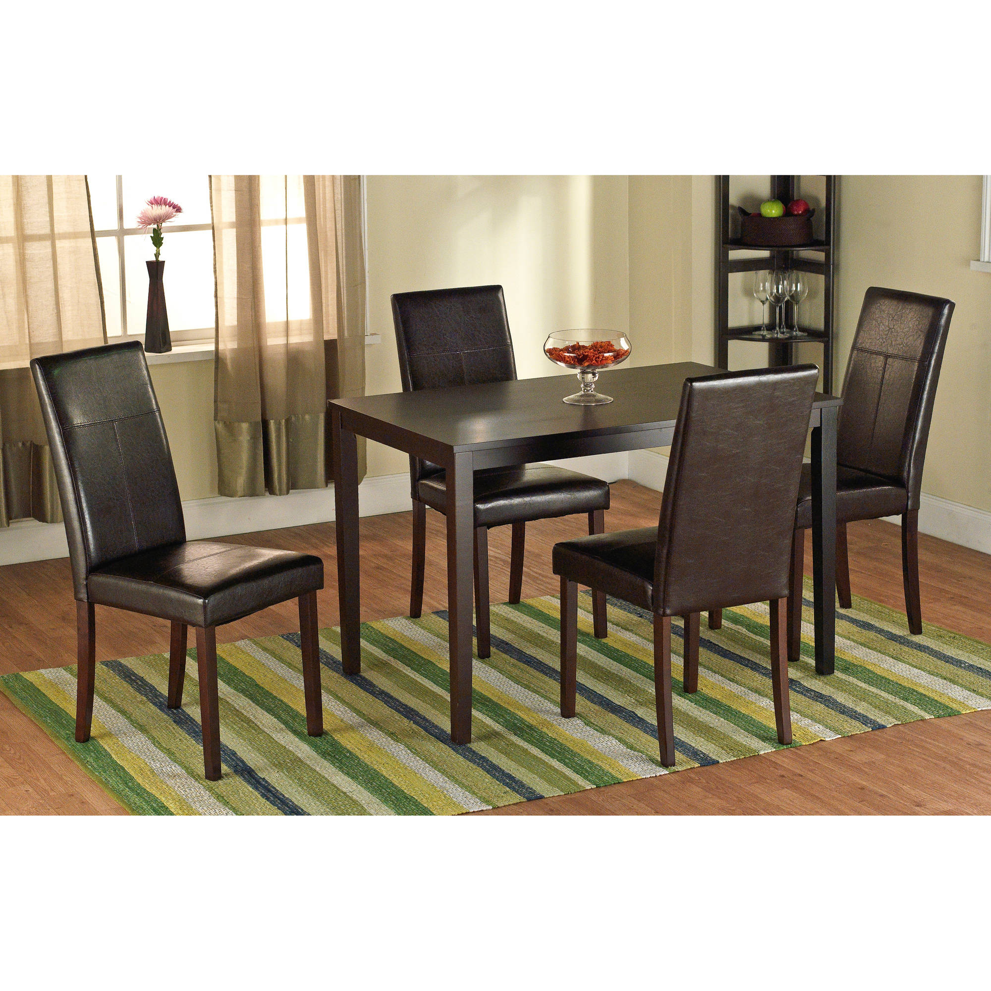 Faux Leather Parson Dining Chair, Set Of 2
