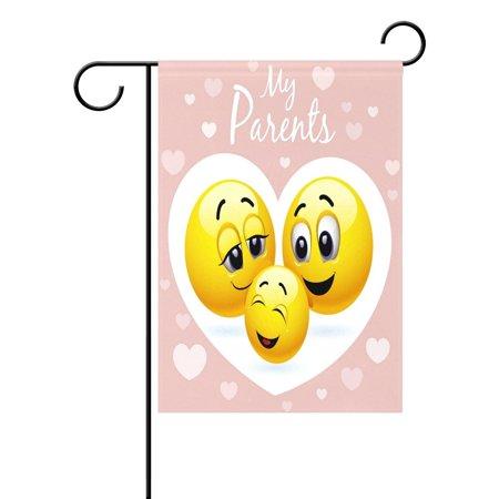 POPCreation Happy Family Emoji Garden Flag Emoticon Smiley Outdoor Flag Home Party 28x40 inches - Checkered Flag Emoji