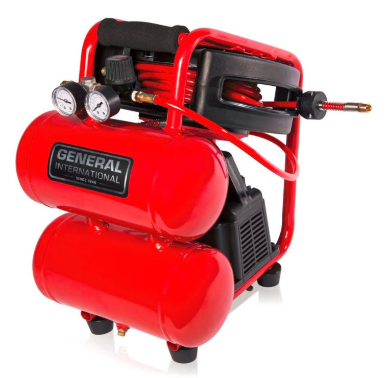 General International AC1212 2-Gallon Twin Stack Air Compressor