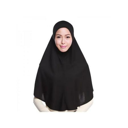 Lavaport Solid Colors Womens Muslim Hijab Scarf Head