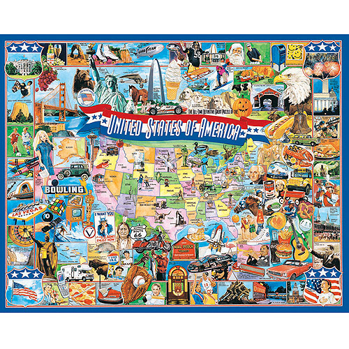 "Jigsaw Puzzle 1000 Pieces 24""X30""-United States Of America"