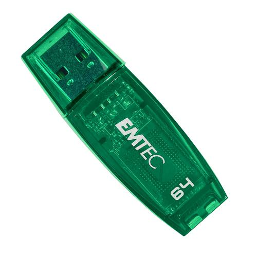 Emtec C400 Clear Green 64GB USB 2.0 Candy Series Flash Drive
