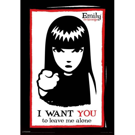 Emily the Strange I Want You to Leave Me Alone Art Print Poster