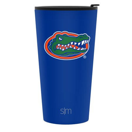 Gator Tumbler - Simple Modern 16oz Pint Tumbler - Florida Gators Vacuum Insulated 18/8 Stainless Steel Tailgating Cup Travel Mug - Florida