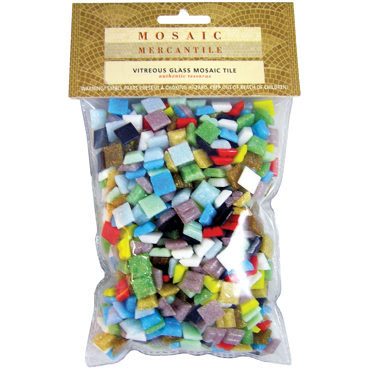 Vitreous Glass Mosaic Tiles 1lb-Assorted