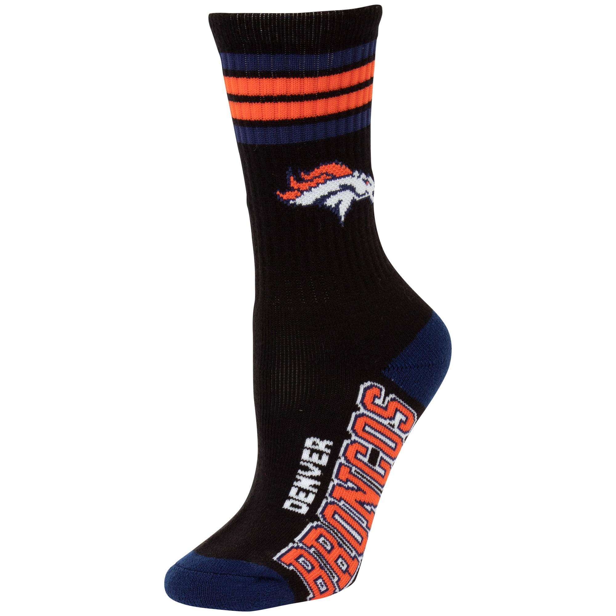 Denver Broncos For Bare Feet Women's Deuce Crew Socks - M