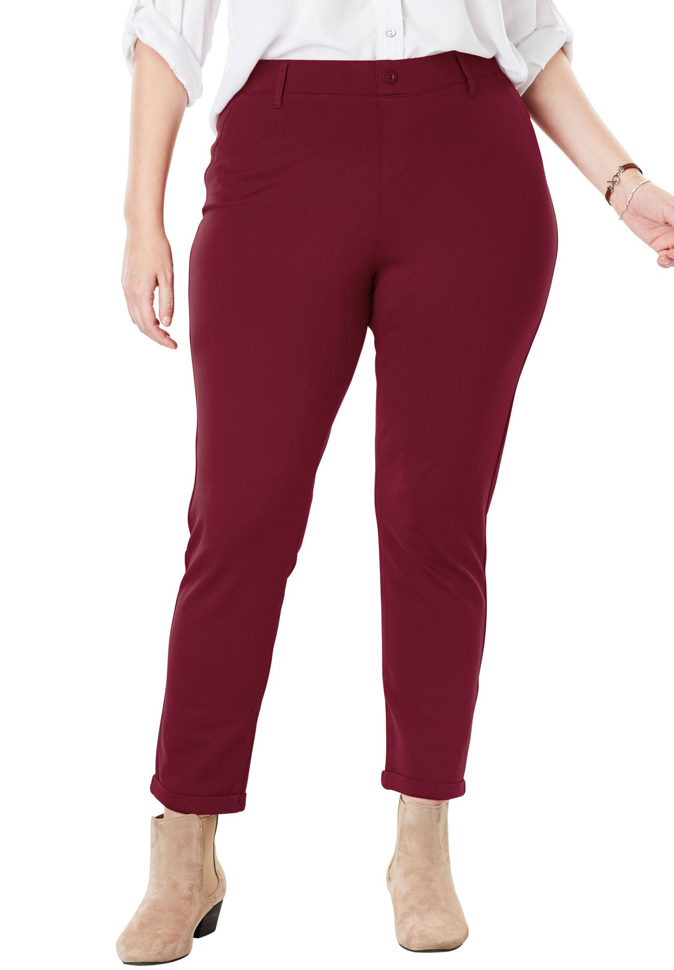 Woman Within Plus Size Work Leisure Ponte Pant