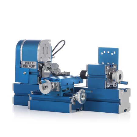 Mini Motorized Lathe Machine 24W DIY Tool Metal Woodworking Hobby