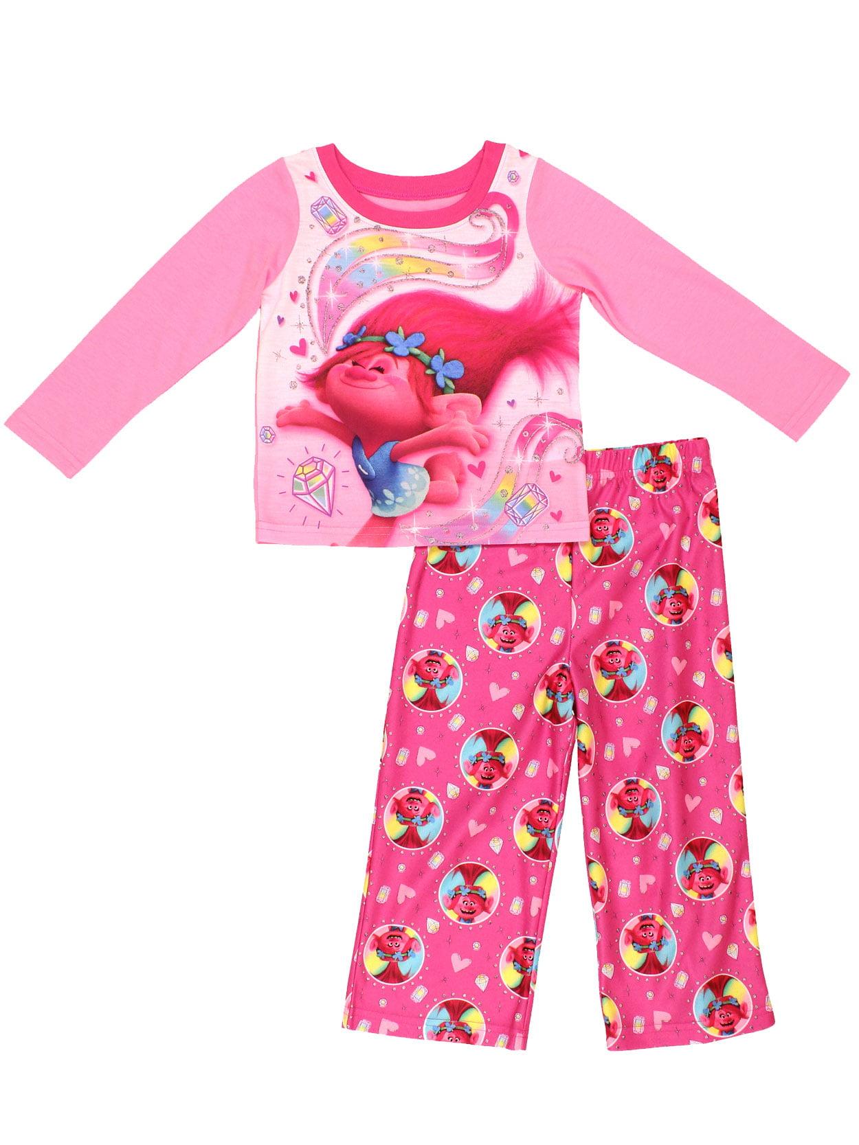 Official Licensed Girls Trolls Poppy Purple Fleece All In One Bodysuit Pyjamas