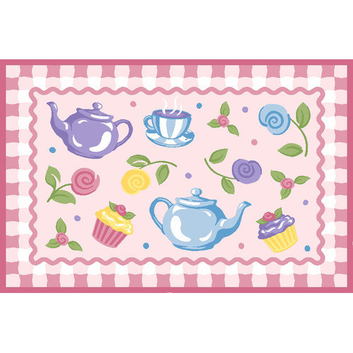 Fun Rugs Olive Kids Tea Party Pink Area Rug