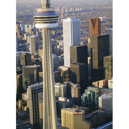 Cn Tower and Skyline of Toronto, Ontario, Canada Print Wall Art By Sylvain - Ontario Canada Pc