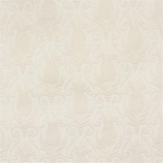 Designer Fabrics E526 54 in. Wide Off White, Pineapple Jacquard Woven Upholstery Grade Fabric