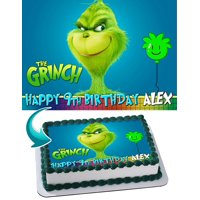 The Grinch - Edible Cake Topper - 11.7 x 17.5 Inches 1/2 Sheet rectangular