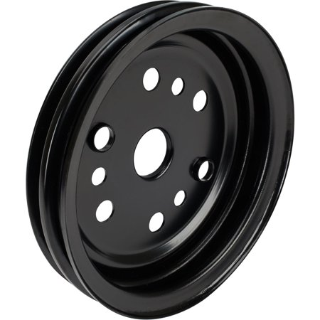 Agency Power Crank Pulley - Double Groove S/B Chevy Crank Pulley, Black
