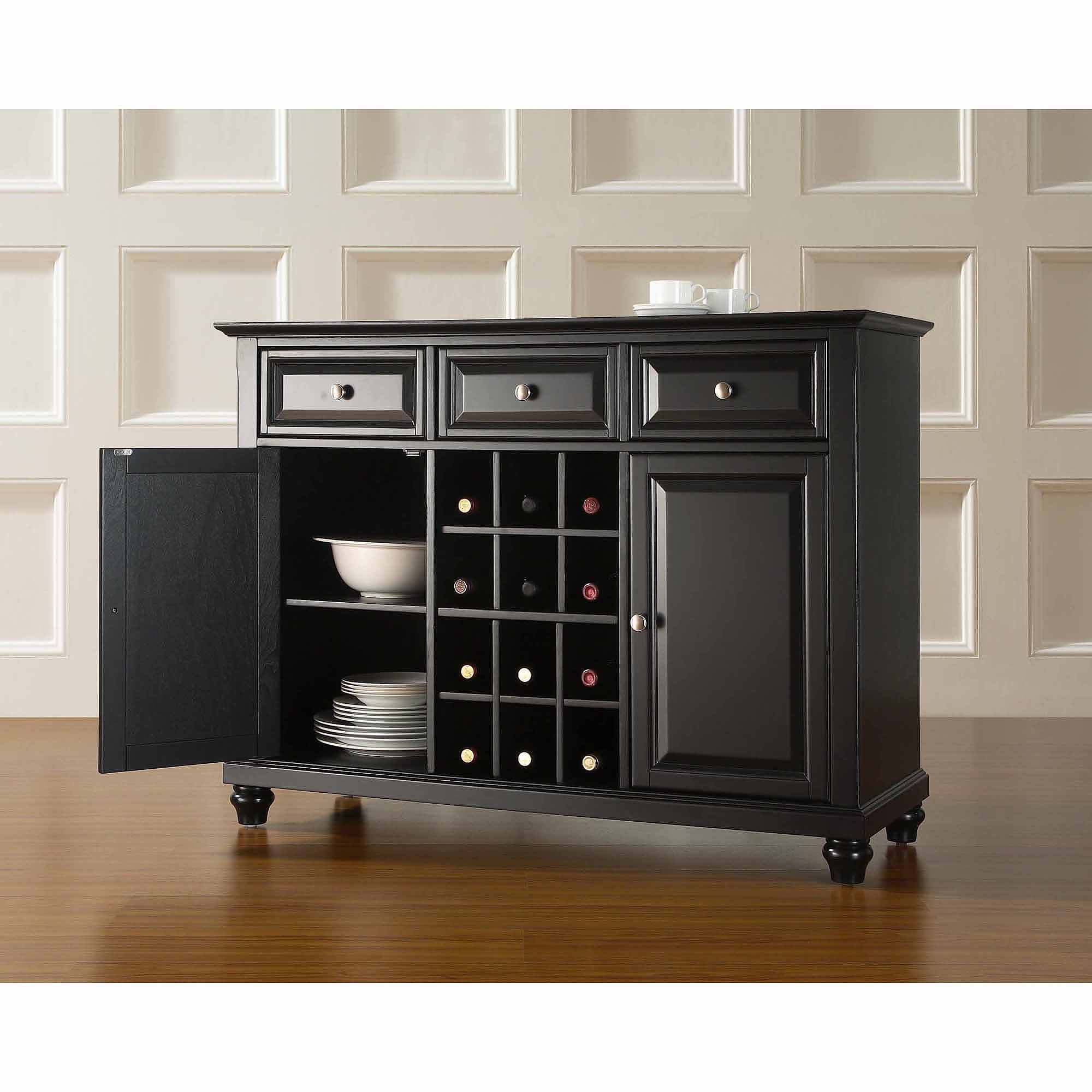 buffet server furniture. Crosley Furniture Cambridge Buffet Server And Sideboard Cabinet With Wine Storage