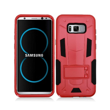 Red Contempo Tech Stand Case For Samsung Galaxy S8 Phone