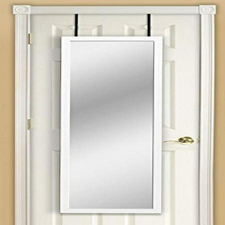 mirrotek dm1448wt over the door mirror white. Black Bedroom Furniture Sets. Home Design Ideas