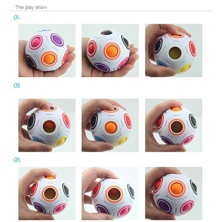 Novelty Design Children Kids Magical Spheric Ball Shaped Puzzle Toy Students Brain Developmental Toy Best Gifts