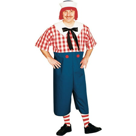 Raggedy Andy Halloween Adult Halloween Costume](Humorous Adult Costumes)