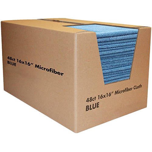 Zwipes Microfiber Cleaning Towels, Blue, 48 count