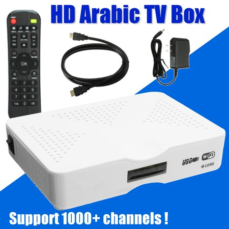HD Arabic TV Box Android IPTV Wifi Receiver Support 1000+ Channels Free 1-2  Year
