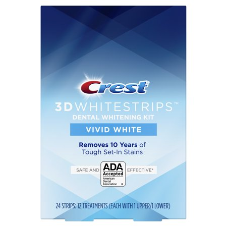Crest 3D Whitestrips Vivid White Teeth Whitening Kit, 12
