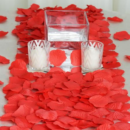 BalsaCircle 500 Silk Rose Petals Wedding Decorations Bulk Supplies ...