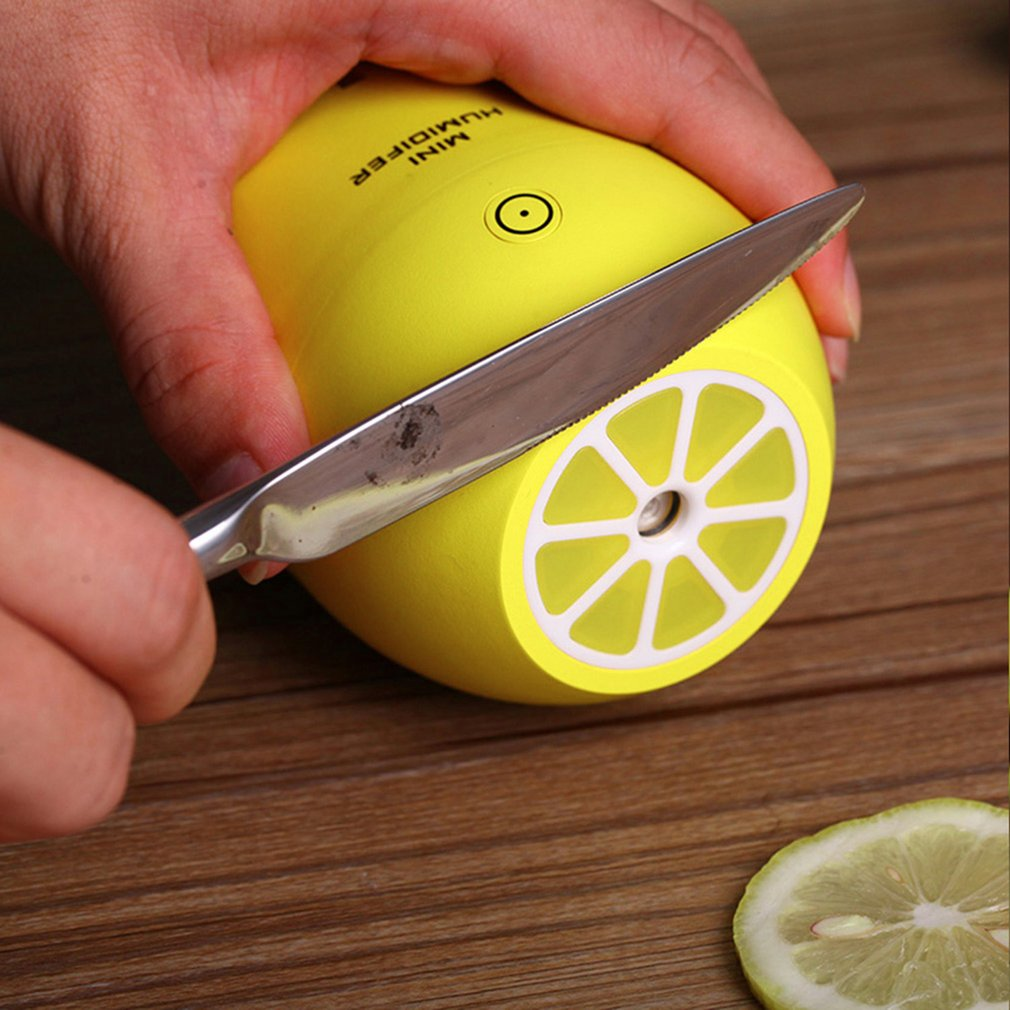 Lemon Creative Ultrasonic Humidifier Night Light Electric Diffuser Mist Maker