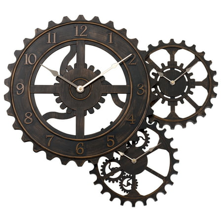 better homes and gardens 24 qa gear wall clock bronze walmart com