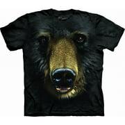 Black Bear Face Adult T-Shirt - 10-3245