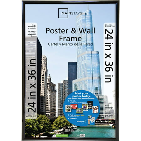 Mainstays 24x36 Trendsetter Poster and Picture Frame,
