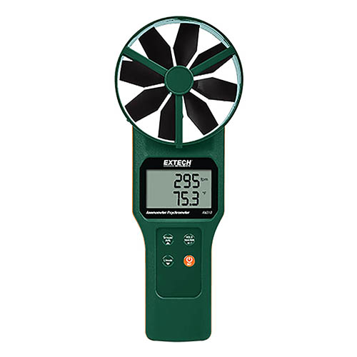 Extech AN320 Large Vane CFM CMM Anemometer Psychrometer + CO2 by Extech