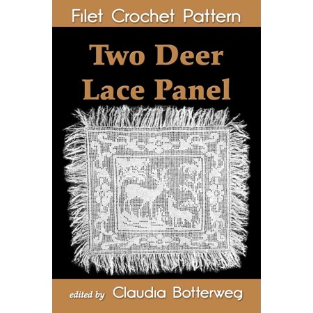Two Deer Lace Panel Filet Crochet Pattern - eBook