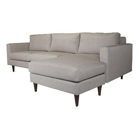Modern Contemporary Sectional Sofa Set, Grey Gray, Polyester Fabric Alder (Alder Sofa)