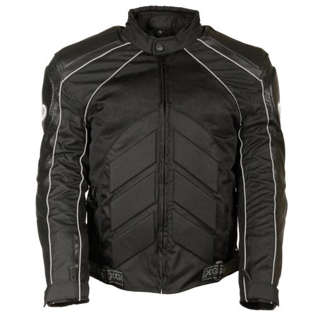 Body Armor Jacket - Milwaukee Leather Mens Combo Black Armored Leather/Textile/Mesh Jacket