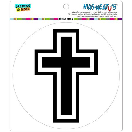 Cross Christian Religious Automotive Car Refrigerator Locker Vinyl Magnet ()