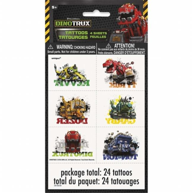 Dinotrux 30350465 Dinotrux Temporary Tattoo Sheets, Pack of 4