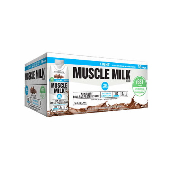 Muscle Milk Light rBST Free Chocolate Shakes 11 fl.oz., (Free Shades)