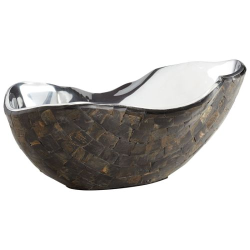 Cyan Design Large Ferrara Bowl Ferrara 14 Inch Wide Aluminum and Horn Decorative by Cyan Design