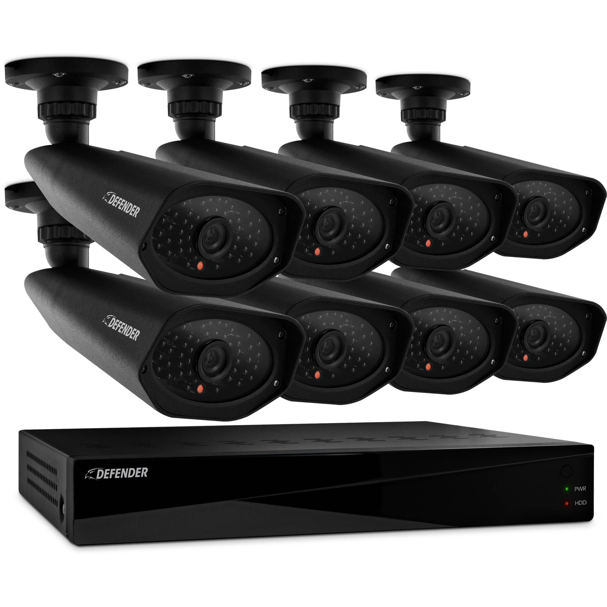 DEFENDER PRO Sentinel 8CH Smart Security DVR with 8 Hi-Res Outdoor Security Cameras