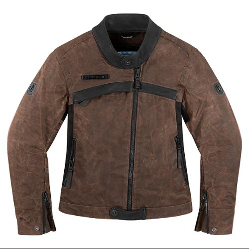 Icon 1000 Hella Womens Jacket Brown MD