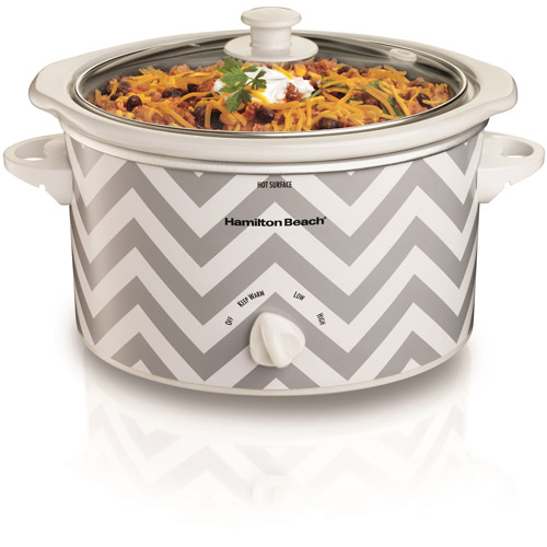 Hamilton Beach 3 Quart Oval Countertop Designer Slow Cooker | Model# 33234