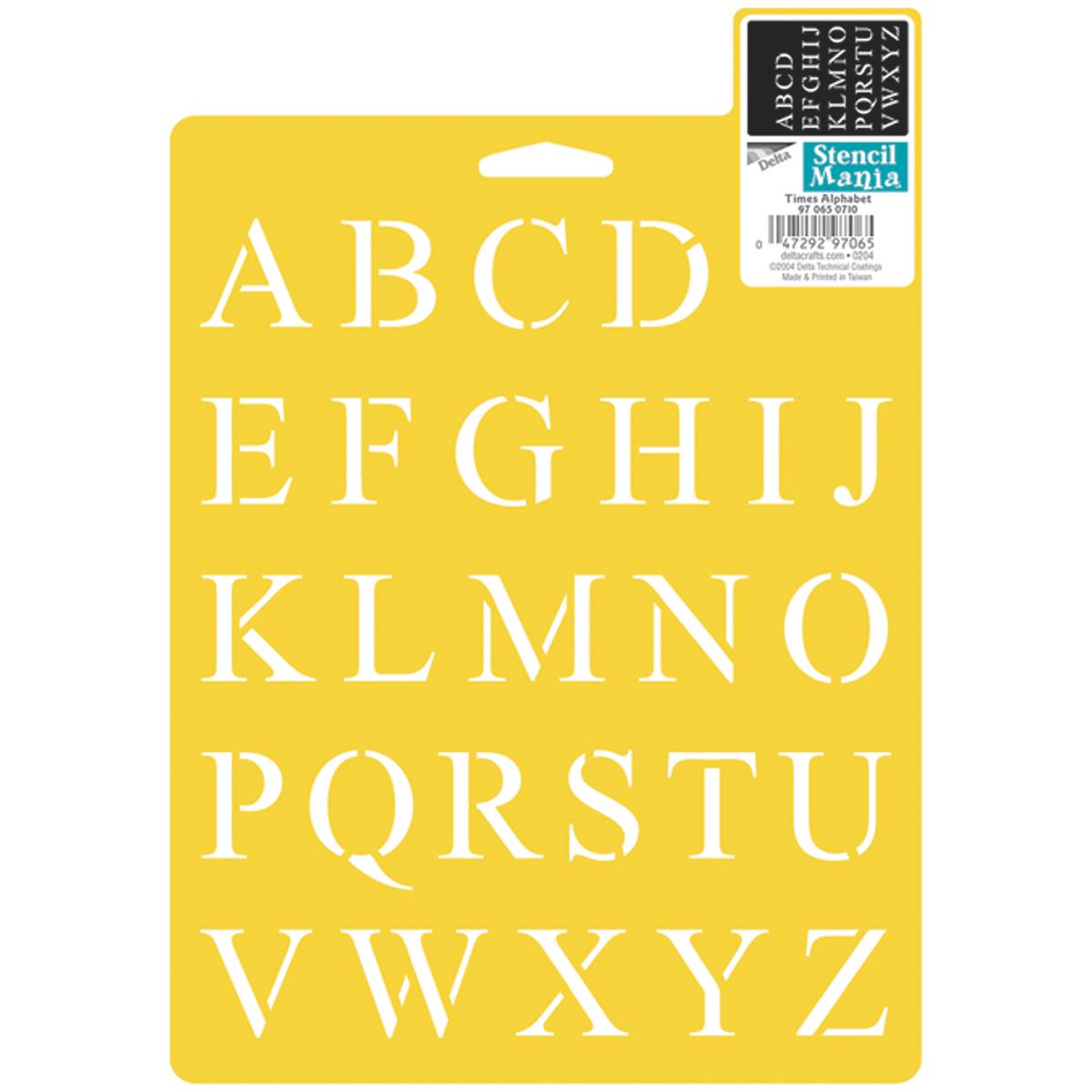 Stencil Mania Stencil 7 Inch X 10 Inch-Times Alphabet