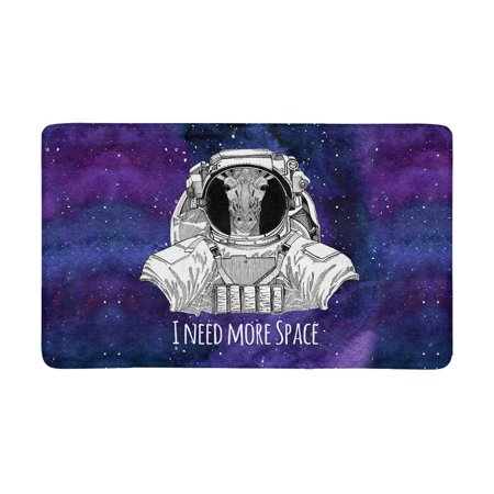 MKHERT Animal Astronaut Giraffe in Space Suit Nebula Galaxy Space with Stars Doormat Rug Home Decor Floor Mat Bath Mat 30x18 inch](Giraffe Suit)
