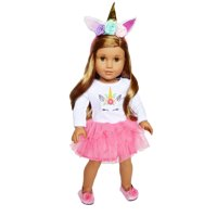 My Brittany's Pink Unicorn Outfit for American Girl Dolls and My Life as Dolls  18 Inch Doll Clothes